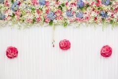 Decoración hermosa de la boda de la flor Foto de archivo libre de regalías