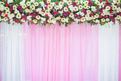 Decoración hermosa de la boda de la flor Foto de archivo