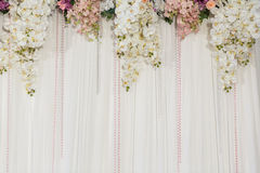 Decoración hermosa de la boda de la flor Imagenes de archivo