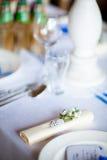 Decoración hermosa de la tabla de la recepción nupcial Fotografía de archivo libre de regalías