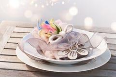 Decoración hermosa de la tabla del día de madres Imagen de archivo libre de regalías