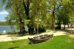 Decoración hermosa del parque de la orilla Imágenes de archivo libres de regalías