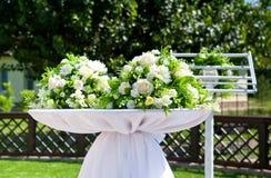 Decoración hermosa para casarse Foto de archivo
