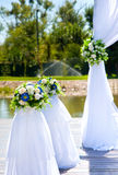 Decoración hermosa para casarse Foto de archivo libre de regalías