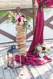 Decoración imponente de la boda Fotografía de archivo