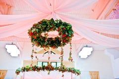 Decoración impresionante de la boda Imagen de archivo libre de regalías