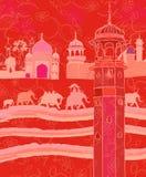 Decoración india con los elefantes