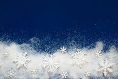 Decoración inferior de los copos de nieve Fotos de archivo