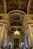 Decoración interior de la catedral del St Isaac, St Petersburg Rusia Imagen de archivo