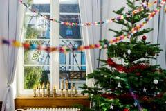 Decoración interior del hogar de Chriustmas y del Año Nuevo Fotografía de archivo libre de regalías