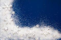 Decoración izquierda inferior de los copos de nieve Fotografía de archivo libre de regalías