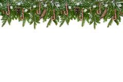 Decoración larga superior de la Navidad con las piruletas Imágenes de archivo libres de regalías