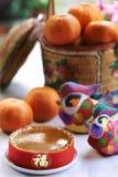Decoración lunar del Año Nuevo Fotografía de archivo