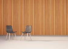 Decoración mínima más sitio de la silla y del estudio Imágenes de archivo libres de regalías