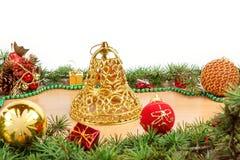 Decoración maravillosa de la Navidad con el árbol de abeto Fotografía de archivo