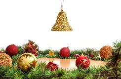 Decoración maravillosa de la Navidad con el árbol de abeto Imágenes de archivo libres de regalías