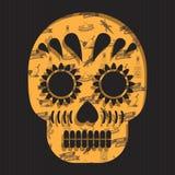 Decoración mexicana del cráneo Foto de archivo libre de regalías