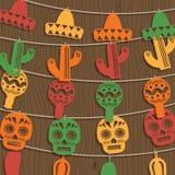 Decoración mexicana del empavesado Fotos de archivo