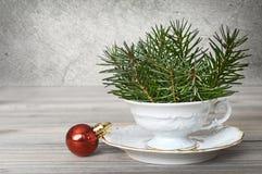 Decoración natural de la Navidad Fotografía de archivo