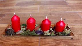 Decoración natural de la Navidad Imagen de archivo