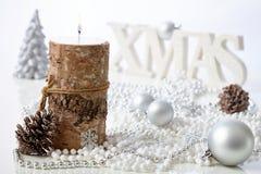 Decoración natural de la Navidad Imágenes de archivo libres de regalías