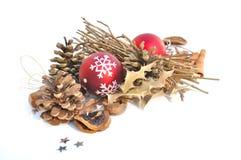 Decoración natural para la Navidad Imagen de archivo libre de regalías