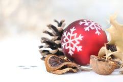 Decoración natural para la Navidad Imagenes de archivo
