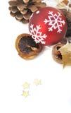 Decoración natural para la Navidad Fotos de archivo libres de regalías