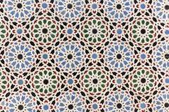 Decoración oriental del mosaico - tejas de la pared de Marruecos fotografía de archivo