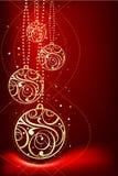 Decoración ornamental de la Navidad Imagenes de archivo