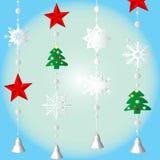 Decoración ornamental de la Navidad para la ventana Fotografía de archivo