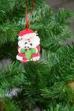 Decoración Papá Noel del árbol de navidad Fotos de archivo libres de regalías