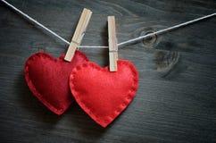 Decoración para el día de tarjeta del día de San Valentín imagen de archivo libre de regalías