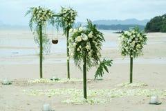 Decoración para la boda en la playa Fotografía de archivo libre de regalías
