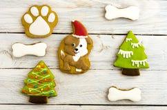 Decoración para la celebración del Año Nuevo Año del perro amarillo Fotos de archivo libres de regalías