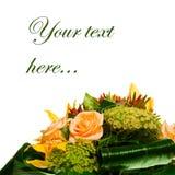 Decoración para la tarjeta de felicitación de las rosas de té fotos de archivo libres de regalías