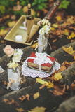 Decoración para una boda o fecha en estilo retro fotos de archivo libres de regalías