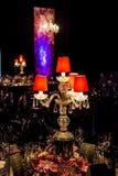 Decoración para una cena grande del partido o de gala fotografía de archivo