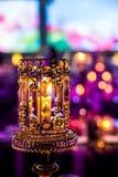 Decoración para una cena grande del partido o de gala foto de archivo