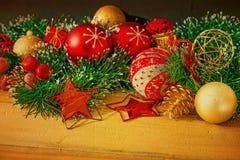 Decoración pasada de moda de la Navidad Imágenes de archivo libres de regalías