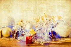 Decoración pasada de moda de la Navidad Fotografía de archivo libre de regalías