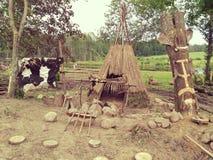 Decoración primitiva de la tribu Imagenes de archivo