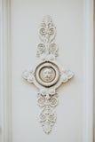 Decoración principal de la puerta del león Foto de archivo