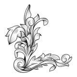 Decoración que se casa floral de la frontera del marco del vintage afiligranado rococó barroco del acanthus ilustración del vector