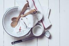 Decoración rústica de la cocina Fotos de archivo