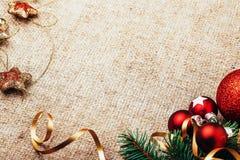 Decoración rústica del Año Nuevo de la Navidad Fotos de archivo
