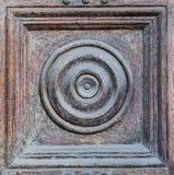 decoración radial en puerta de madera vieja foto de archivo libre de regalías