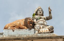 Decoración real del templo en Matale, Sri Lanka Imagen de archivo libre de regalías