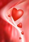 Decoración roja con los corazones Imagen de archivo