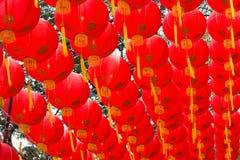 Decoración roja de la linterna Fotos de archivo libres de regalías